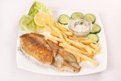 鱼炸薯条 免版税图库摄影