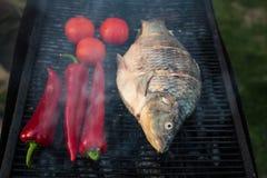鱼烤原始 免版税库存图片