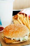 鱼片汉堡用油炸物 库存照片