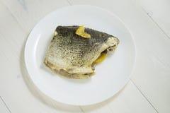 鱼用蒸的柠檬 库存图片