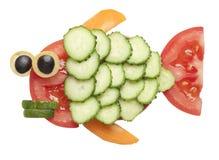 鱼由菜做成 免版税库存照片