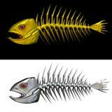 鱼的概要 免版税库存照片
