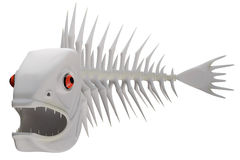 鱼的概要 免版税库存图片