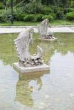 鱼石头雕刻 免版税库存图片