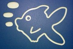鱼符号 图库摄影