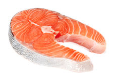 鱼红色牛排 免版税图库摄影