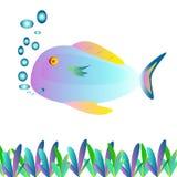 鱼绘画 免版税图库摄影