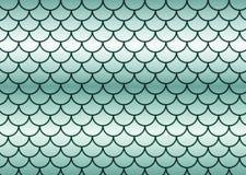 鱼绿色缩放比例 免版税库存照片