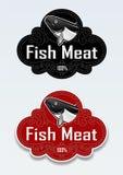 鱼肉密封贴纸 库存照片