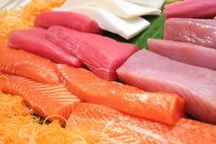鱼肉生鱼片 库存照片