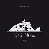 鱼菜单 免版税图库摄影