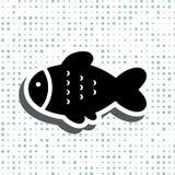鱼象或商标 免版税库存图片