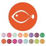 鱼象 海鲜标志 平面 库存图片
