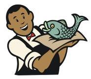 鱼贩子 库存照片