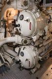 鱼雷发射管控制在潜水艇的 免版税库存图片