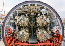 鱼雷室详细的看法潜水艇的 免版税图库摄影