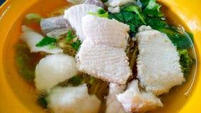 鱼面条 免版税库存照片