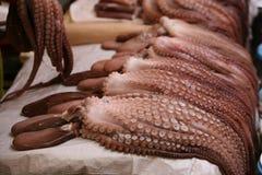 鱼韩国南市场的章鱼 免版税图库摄影