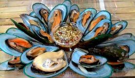鱼食物荷兰芹牌照烤海运 免版税库存照片