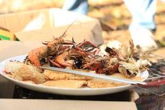 鱼食物荷兰芹牌照烤海运 免版税图库摄影