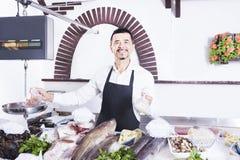 鱼贩子 免版税库存图片