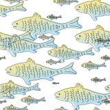鱼仿造无缝 免版税库存照片