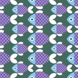 鱼仿造无缝 向量例证
