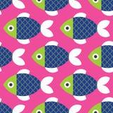 鱼仿造无缝 库存例证