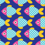 鱼仿造无缝 免版税图库摄影