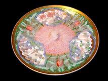 鱼fugu吹风者原始的生鱼片 库存图片