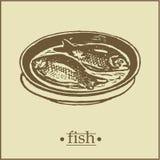 鱼menu2页 免版税库存照片