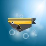 鱼origami数据条向量 免版税库存照片