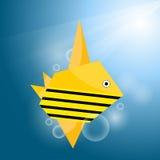 鱼origami数据条向量 库存图片
