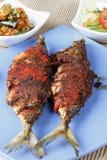 鱼Recheado是从果阿,印度的一条油煎的鱼 免版税库存照片