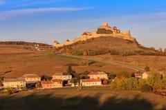 鲁佩亚中世纪堡垒 Transylvania,罗马尼亚 免版税库存照片