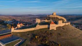 鲁佩亚中世纪堡垒 Transylvania,罗马尼亚 库存照片