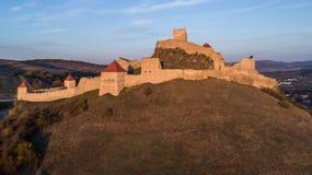 鲁佩亚中世纪堡垒 Transylvania,罗马尼亚 免版税图库摄影