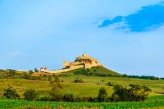 鲁佩亚城堡在布拉索夫县,特兰西瓦尼亚,罗马尼亚 库存图片