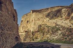 鲁佩亚城堡被加强的墙壁 免版税库存照片