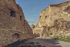 鲁佩亚城堡被加强的墙壁 免版税库存图片