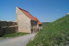 鲁佩亚1324,布拉索夫,特兰西瓦尼亚,罗马尼亚中世纪城堡  图库摄影
