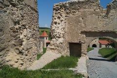 鲁佩亚1324,布拉索夫,特兰西瓦尼亚,罗马尼亚中世纪城堡  库存照片