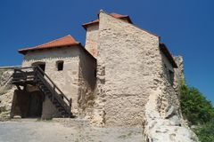 鲁佩亚1324,布拉索夫,特兰西瓦尼亚,罗马尼亚中世纪城堡  免版税库存照片