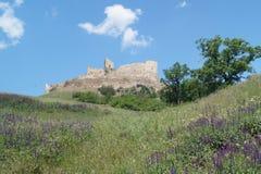 鲁佩亚1324,布拉索夫,特兰西瓦尼亚,罗马尼亚中世纪城堡  免版税图库摄影