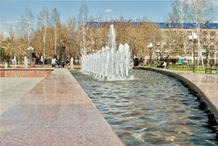 鲁宾逊漂流记正方形  Tobolsk 库存图片