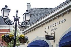 鲁尔蒙德荷兰07 05 2017年Liebeskind设计师提包在Mc亚瑟幽谷设计师出口购物的商店商标 免版税库存图片