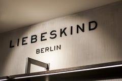 鲁尔蒙德荷兰07 05 2017年Liebeskind设计师提包在Mc亚瑟幽谷设计师出口购物的商店商标 库存图片