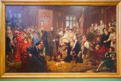 鲁布林在皇家城堡的艺术油漆联合  图库摄影