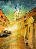 鲁布林,波兰耶路撒冷旧城看法  免版税库存图片