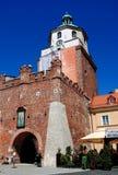 鲁布林,波兰:14世纪克拉科夫门 库存照片